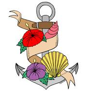 Tropical Anchor Tattoo