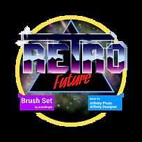 Retro Future Brush Pack Logo