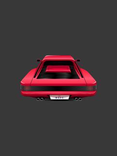 Sports Car High Angle - Affinity Designe