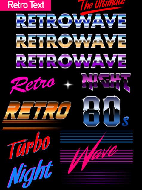 Retro Text - Affinity Designer