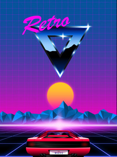 Retrowave vector pack Example 3