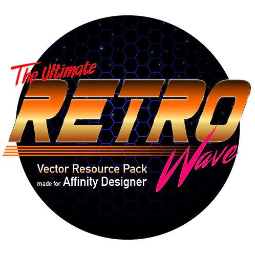 The Ultimate Retrowave Vector Resource Pack