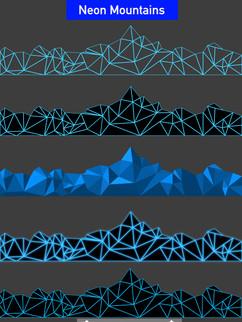 Neon Mountains  - Affinity Designer