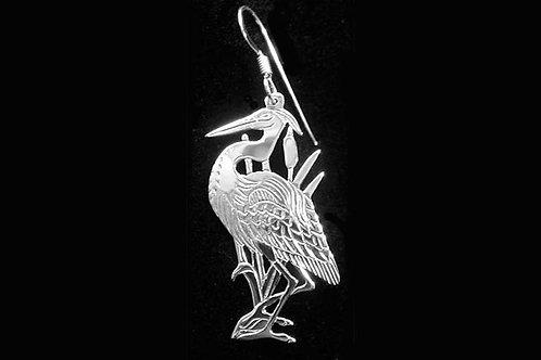 Heron Earrings Cut Out