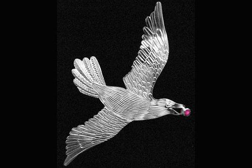 Flying Raven Brooch