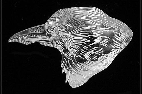 Crow Head Brooch
