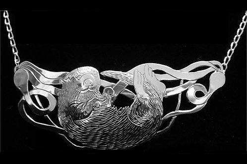 Sea Otter in Kelp Necklace