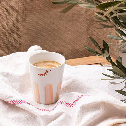 LATTE - Mug en porcelaine argile rose