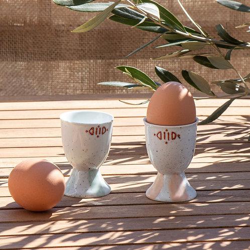 MIMOSAS - Duo de coquetiers en porcelaine