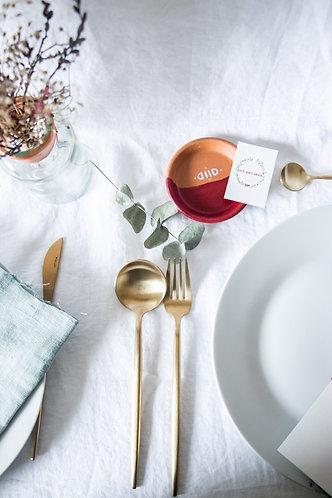 Petit vide-poche en terre cuite rose bohème-chic - Cadeau invité mariage
