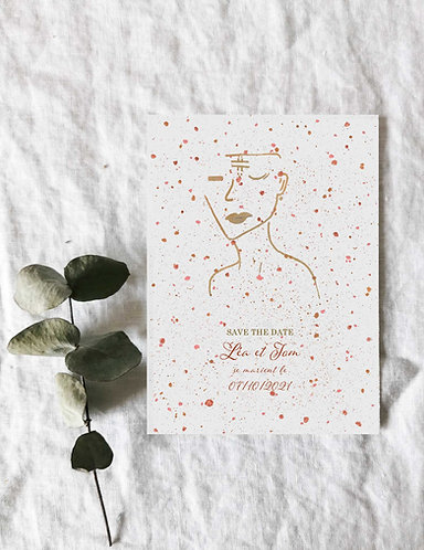 Save the date nude silhouette