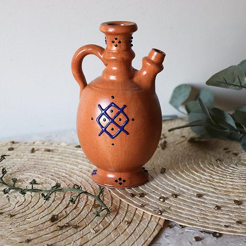 GOURAYA - Bouteille d'huile d'olive en terre cuite
