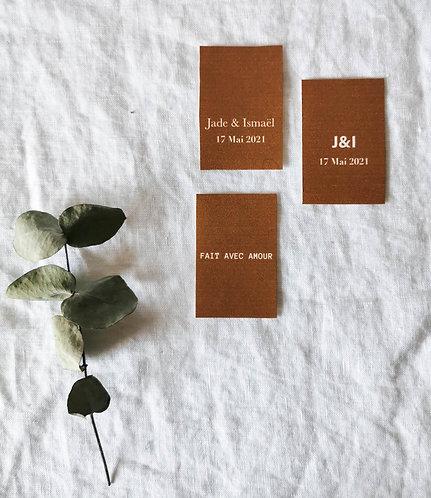 Étiquettes pour cadeau invité mariage minimaliste figuratif