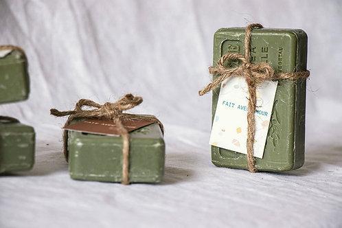 Savon de Provence vintage avec fil de jute - Cadeau invité mariage