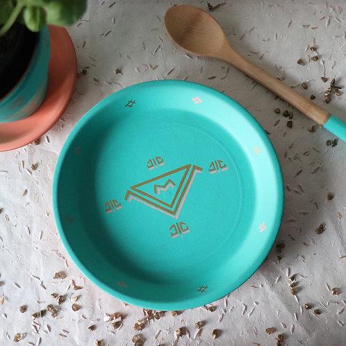 LINDOS - Vide-poche en terre cuite turquoise