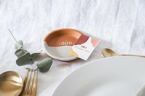 TATAM - Petit vide-poche en terre cuite - Cadeau invité mariage