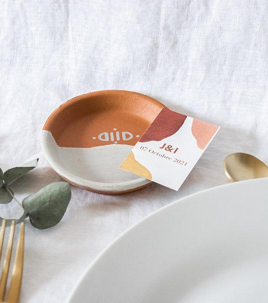 Petit vide-poche en terre cuite minimaliste - Cadeau invité mariage