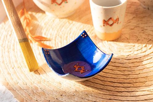 BANDOL - Coupelle apéritif en porcelaine bleu