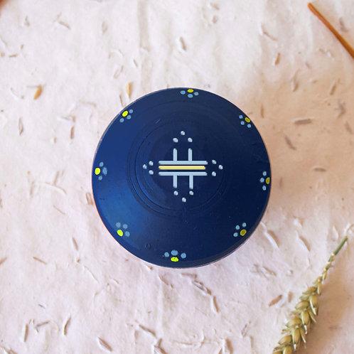 Boîte à bijoux TIZA personnalisée bleu - soleil