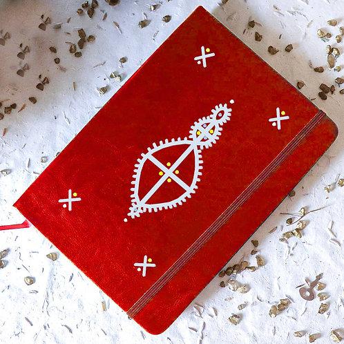 Carnet OLBIA personnalisé rouge - cocon