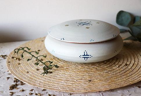 MILA- Grandes boîtes à bijoux en terre cuite blanc