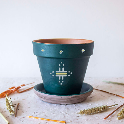 Pot FIGARI personnalisé vert - soleil