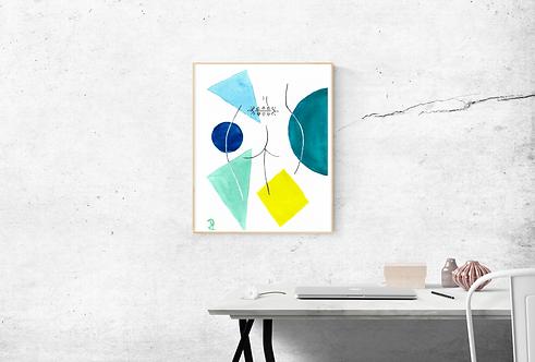 OLIVA - Affiche aquarelle