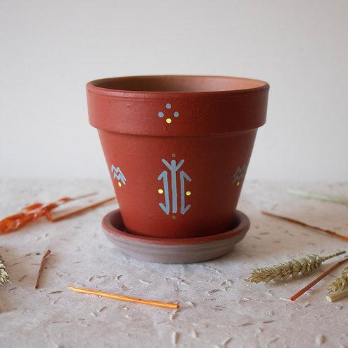 FIGARI - Pots de fleur en terre cuite terracotta