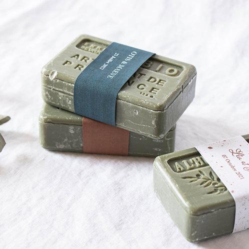 Savon de Provence étiqueté moderne - Cadeau invité mariage