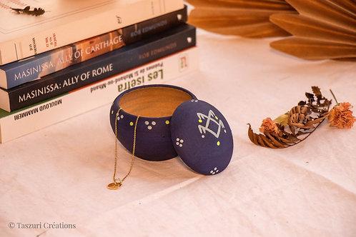 TIZA - Boîtes à bijoux en terre cuite bleu nuit