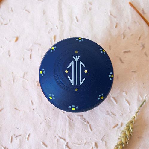 Boîte à bijoux TIZA personnalisée bleu - arbre