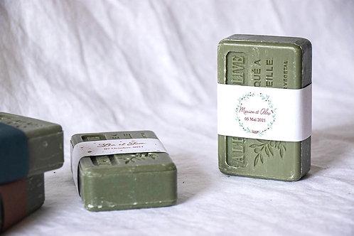 Savon de Provence étiqueté bohème-chic - Cadeau invité mariage