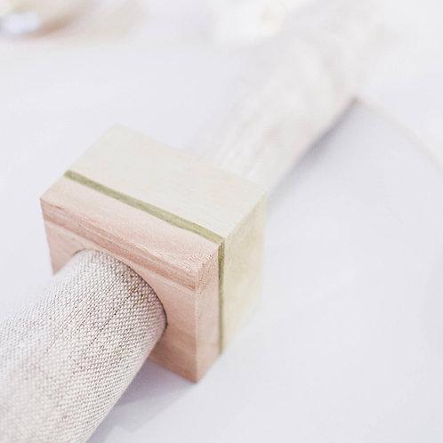 CHEFA - Rond de serviette en bois - Cadeau invité mariage
