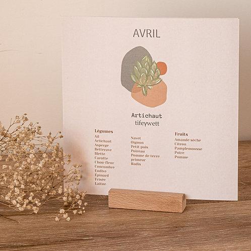 TIDELT - Calendrier des fruits et légumes de saison