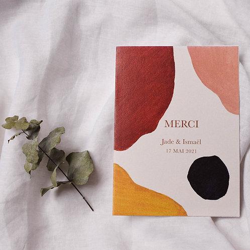 Carte de remerciement minimaliste abstrait
