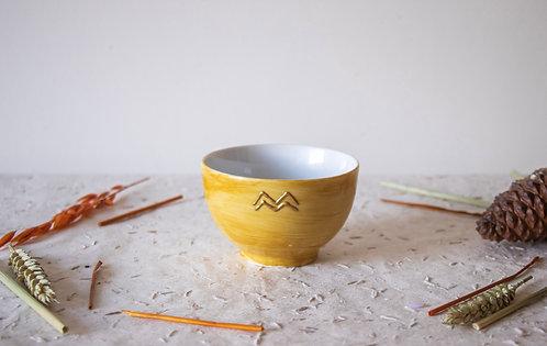 GORDES - Petits bols à thé moutarde
