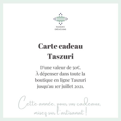 Carte Cadeau Taszuri - 50 euros