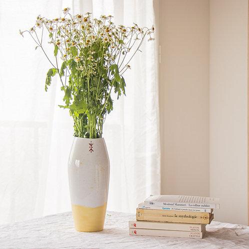 SICCA - Vase en porcelaine hummus