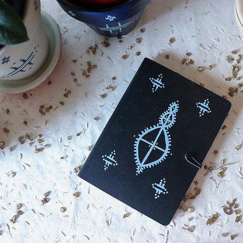 AYORA - Carnet tatouage berbère noir
