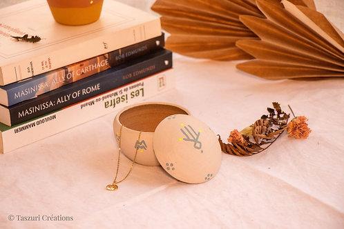 TIZA - Boîtes à bijoux en terre cuite nude