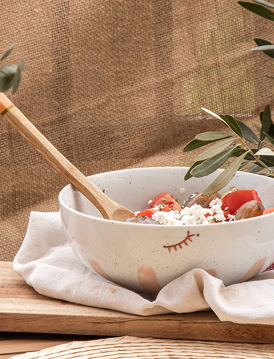 CASSIS - Saladier en porcelaine argile rose
