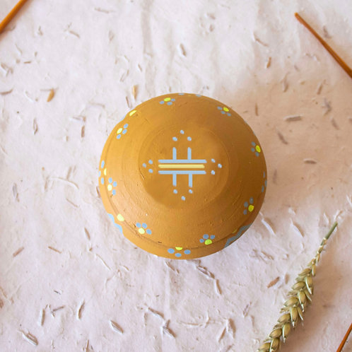 Boîte à bijoux TIZA personnalisée jaune - soleil
