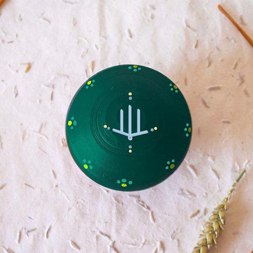 Boîte à bijoux TIZA personnalisée vert - main