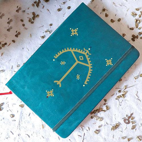 Carnet OLBIA personnalisé turquoise - arc