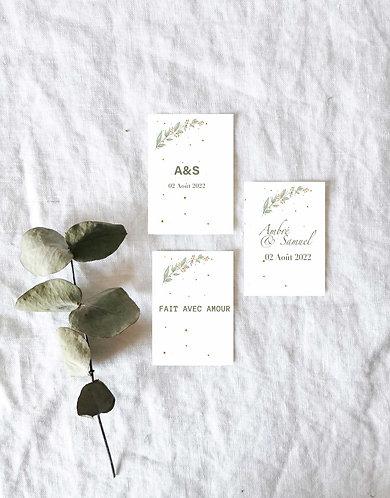Étiquettes cadeaux de mariage champêtre