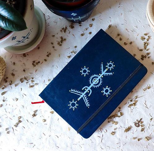 OLBIA - Carnet tatouage berbère bleu