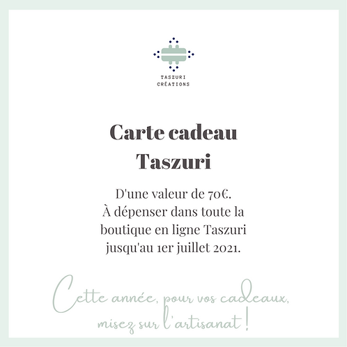 Carte Cadeau Taszuri - 70 euros