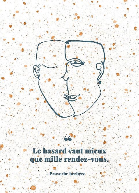 PAXOS - Affiche proverbe aquarelle