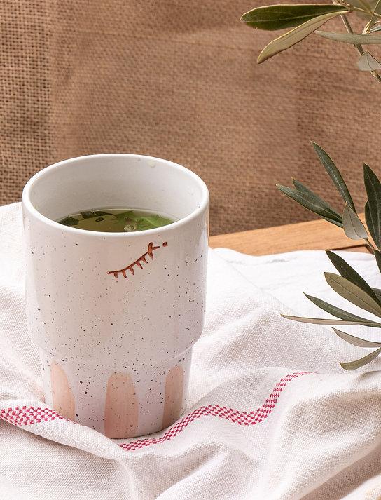RIF - Mug beldi en porcelaine argile rose