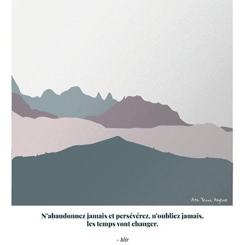 Idir - Affiche citation A5
